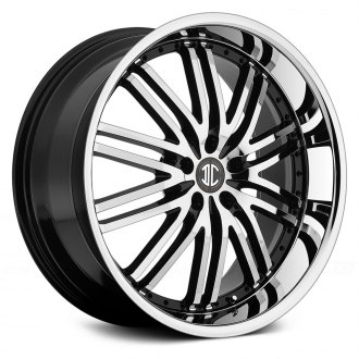 2 CRAVE® - No.22 Gloss Black with Machined Face and Chrome Lip