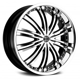 2 CRAVE® - No.1 Gloss Black with Machined Face and Chrome Lip