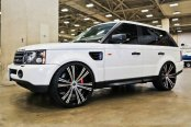2 CRAVE® - No.12 Gloss Black with Machined Face on Land Rover Range Rover Sport