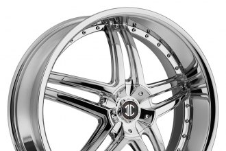 "2 CRAVE® - NO.17 Chrome (18"" x 7.5"", +40 Offset, 5x100-120.65 Bolt Patterns, 72.56mm Hub)"