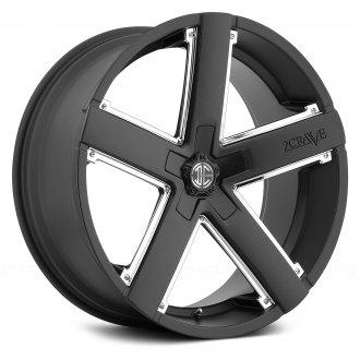 2 CRAVE® - NO.35 Satin Black with Chrome Inserts