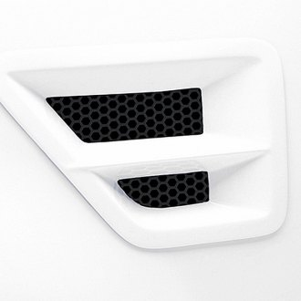 3d Carbon® - Front Fender Vent with Grille with Horizontal Cross Bar (Unpainted)