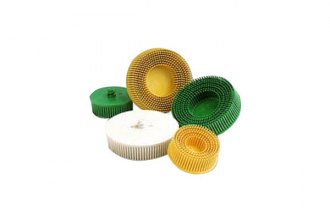 "3M® - 3"" Yellow Scotch-Brite Roloc Bristle Discs"