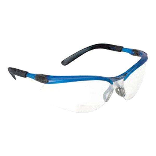 3m clear antifog lens ocean blue frame safety glasses