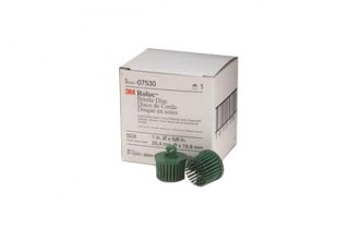 "3M® - 1"" Green Scotch-Brite Roloc Bristle Discs"
