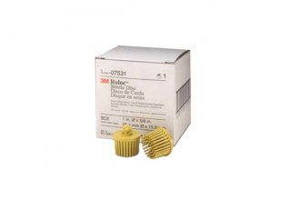 "3M® - 1"" Yellow Scotch-Brite Roloc Bristle Discs"