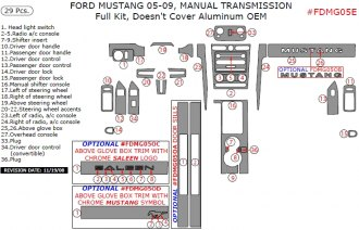 2005 Ford Mustang With M/T, Full Kit, Doesn't Cover Aluminum OEM, 29 Pcs.