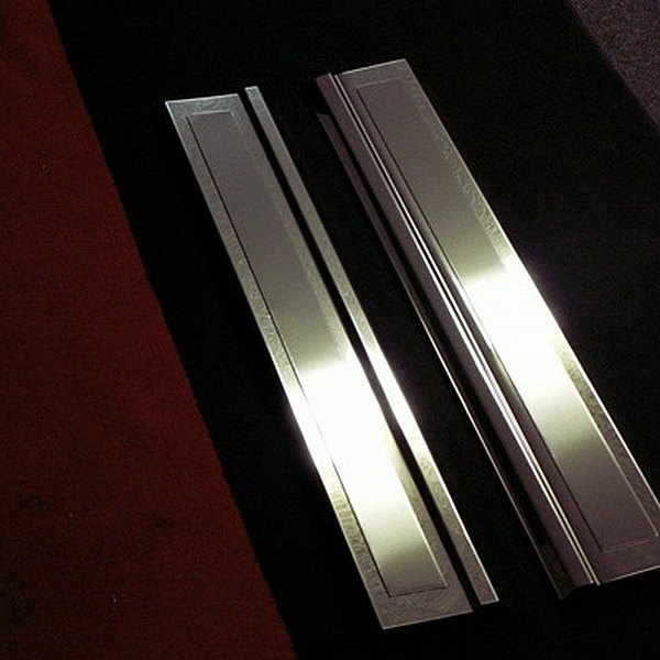 American Car Craft® - Polished Door Sills with Brushed Inserts