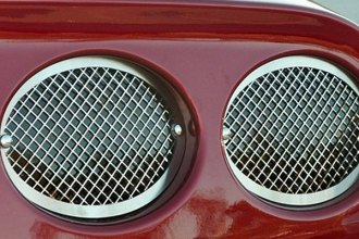 American Car Craft® - Laser Mesh Style Polished Tail Light Covers