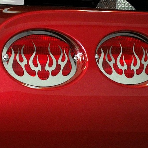 ACC® - Polished SS Flame Tail Light Covers