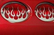 ACC® 032040 - Polished Stainless Steel Flame Tail Light Covers