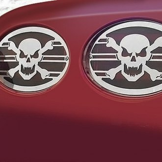 ACC® - Polished SS Skull Tail Light Covers