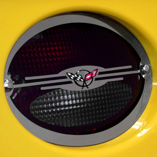 ACC® - Polished Stainless Steel Tail Light Covers with C5 Logo