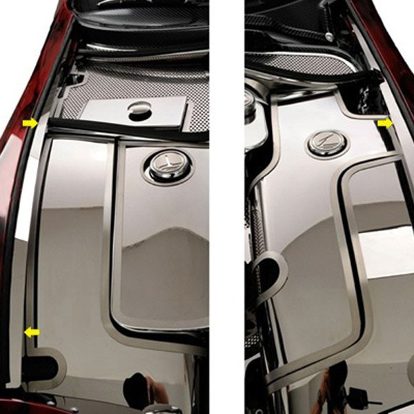 American Car Craft® - Non-Illuminated Polished Inner Fender Liners with Top Caps