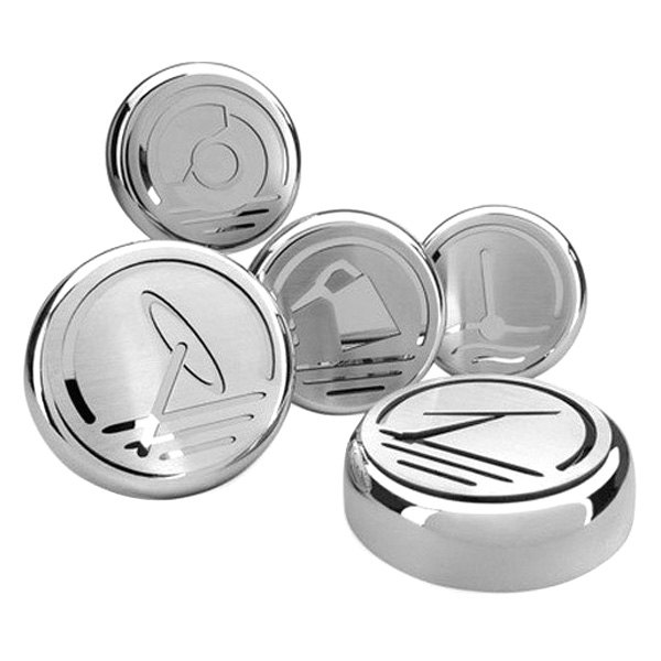 ACC® - Brushed Stainless Steel Executive Series Cap Cover Set