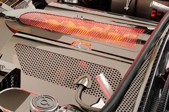 ACC® - Red Illuminated Perforated SS Low Profile Plenum Cover