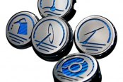 ACC® - Stainless Steel Blue Carbon Fiber Executive Series Cap Cover Set