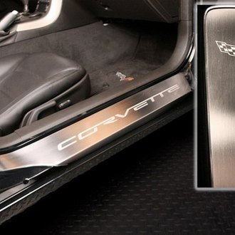 ACC® - Stainless Steel Outer Door Sills with Etched Corvette Logo