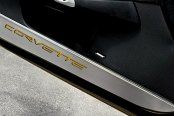 ACC® - GM Licensed Brushed Corvette Style Stainless Door Guards with Yellow Inlay