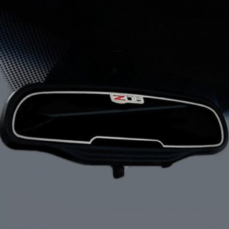 ACC® - Brushed Rear View Mirror Trim with Z06 Logo