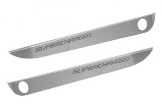 ACC® - GM Licensed Series Brushed Stainless Steel Door Sills with Carbon Fiber Supercharged Logo