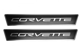ACC® - Carbon Fiber Outer Door Sills with Stainless Steel Corvette Logo