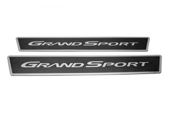 ACC® - Carbon Fiber Outer Door Sills with Stainless Steel Grand Sport Logo