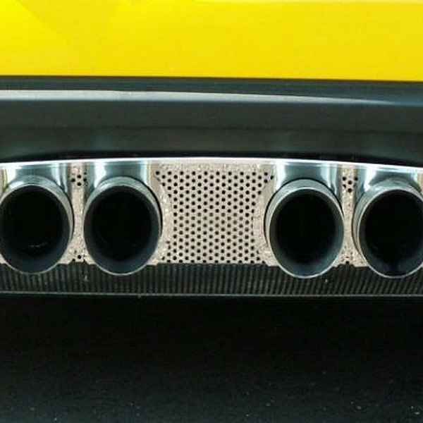 American Car Craft® - Perforated Polished Exhaust Filler Panel