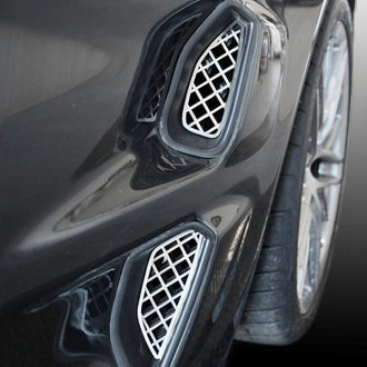 ACC® - Laser Mesh Polished Stainless Steel Side Vent Grilles