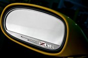American Car Craft® - Brushed Side View Mirror Trim with Z06 Logo