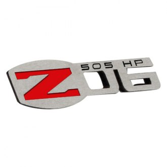 ACC® - Polished Stainless Steel Exterior Z06 505HP Badges Set