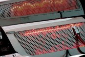 ACC® - Red Illuminated Perforated SS Replacement Style Fuel Rail Covers