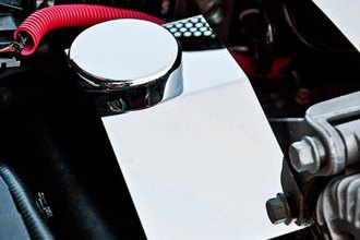 ACC® 043085 - Polished Stainless Steel Power Steering Cover with Cap Cover