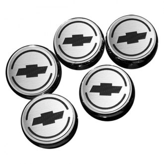 ACC® - Chrome Cap Cover Set with Chevy Bowtie Logo
