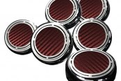 ACC® - Red Slotted Carbon Fiber Cap Cover Set
