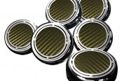 ACC® - Yellow Slotted Carbon Fiber Cap Cover Set