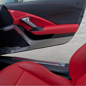 ACC® - GM Licensed Brushed Door Guards with Corvette Logo