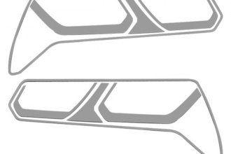 ACC® 052013 - Polished Stainless Steel Tail Light Trim Kit