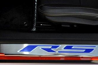ACC® - Polished Stainless Steel Door Sills with Carbon Fiber RS Logo