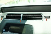 ACC® - Brushed Stainless Steel A/C Vent Center Trim Kit