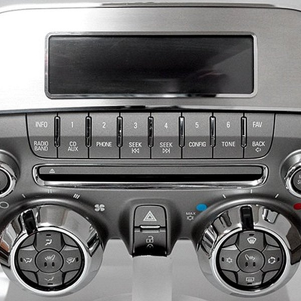 Acc Chevy Camaro 2010 Brushed Radio Control Trim