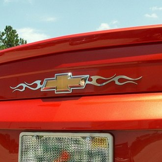 ACC® - Flame Style Polished Stainless Steel Rear Emblem Trim