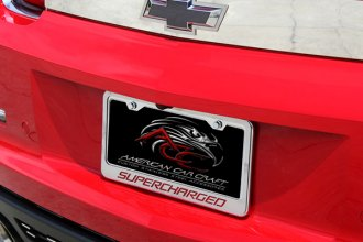 ACC® - Supercharged Style Chrome Brushed Tag Frame