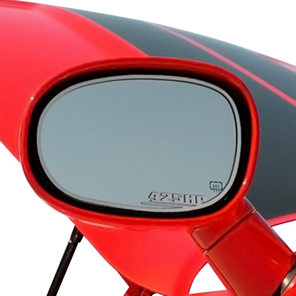 American Car Craft® - Brushed Side View Mirror Trim with 425HP Logo