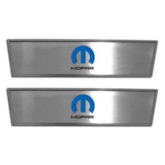 ACC® - GM Licensed Brushed Front Door Badges with MOPAR Omega M Logo
