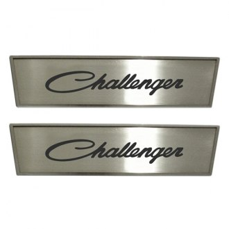 ACC® - GM Licensed Brushed Front Door Badges with Challenger Script