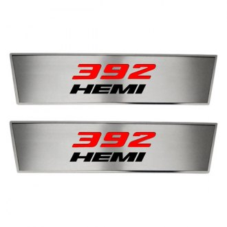 ACC® - Brushed Front Door Badges with 392 HEMI Logo