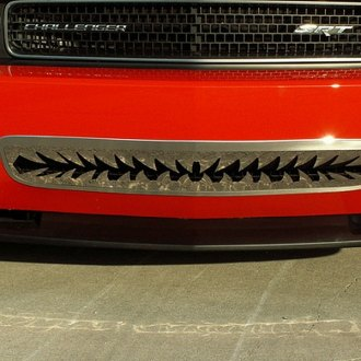ACC® - 1-Pc Shark Tooth Style Polished Bumper Grille