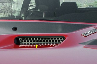 ACC® 152013 - Polished Stainless Steel Hood Scoop Overlay Style Insert