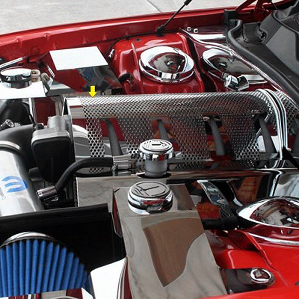 American Car Craft® - Perforated Non-Illuminated Polished Plenum Cover